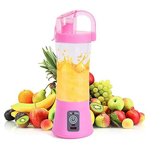 Licuadora portátil Copa de jugo USB recargable Electrico Máquina automática de jugo de naranja cítrica de vegetales y frutas Botella licuadora Uso en cocina casera