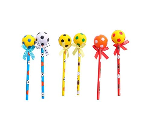 Lote 24 Lapiceros madera Balón de Futbol. Originales lapiceros para Bodas, bautizos, comuniones, Eventos, Fiestas.