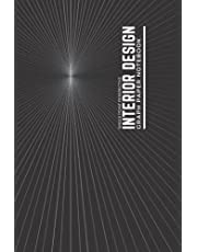 Interior Design Graph Paper Notebook: Single Point Perspective Grid Paper   Single Room Templates   Small Black   100 6 x 9 pages.