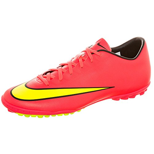 Nike 651646 690, Scarpe da Calcio Uomo, Rosso (Hyper Punch/Metallic Gold/Black/Volt), 40.5 EU