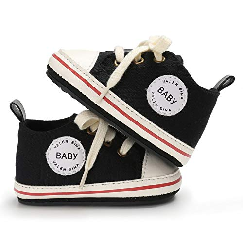 Baby Canvas Sneakers Newborn Baby Boys Girls First Walkers Shoes Infant Toddler Soft Sole Anti-Slip Baby Shoes Dark Green