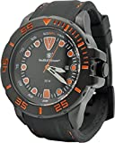 Smith & Wesson Men's Scout Watch, 5 ATM, Stainless Steel Caseback, Rubber Strap, Black and Orange, 48mm