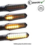 Intermitente LED + luz diurna compatible con Ducati Monster 620, 900, S2R, S4, S4R, S4RS (certificado E / 2 unidades) (B22)