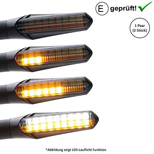 LED-knipperlichten + dagrijverlichting compatibel met Qingqi, CF-Moto, Herkules, IVA, JMStar scooter (getest / 2 stuks) (B22)