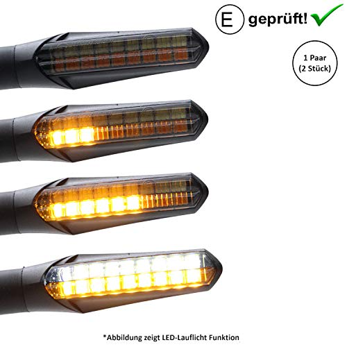 LED-knipperlicht + dagrijverlichting compatibel met Piaggio Zip 50, 125, Zip 2 / Piaggio TPH, TPH X (getest / 2 stuks) (B22)