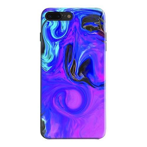 Marble Watercolor Case for iPhone 8 Plus/7 Plus Girls Women Boys Case Unique Pattern Design Ultra Slim Shockproof Flexible Bumper TPU Soft Case Silicone Cover Phone Case for iPhone 8 Plus/7 Plus