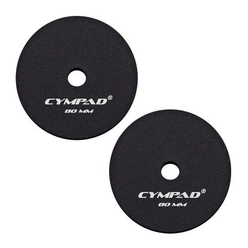 Cympad CYMP 80 Pack 2 platillos Pads 80 mm Negro