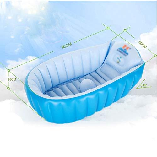 KTYX Bañera Inflable bañera for bebés Engrosamiento Grande bañera de baño recién Nacidos bañera de baño Piscina 95x35x60cm