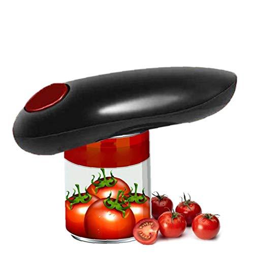Apriscatole elettrico, Hands-Free automatica Can Opener per cucine e ristoranti, gadget da cucina per l'artrite e anziani, con un solo tasto Start, sicuro e conveniente (1 Set, senza batteria)