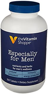 The Vitamin Shoppe Especially for Men Multivitamin, Nutrient's Herbs for Men's Wellness, Antioxidant That Supports Energy ...