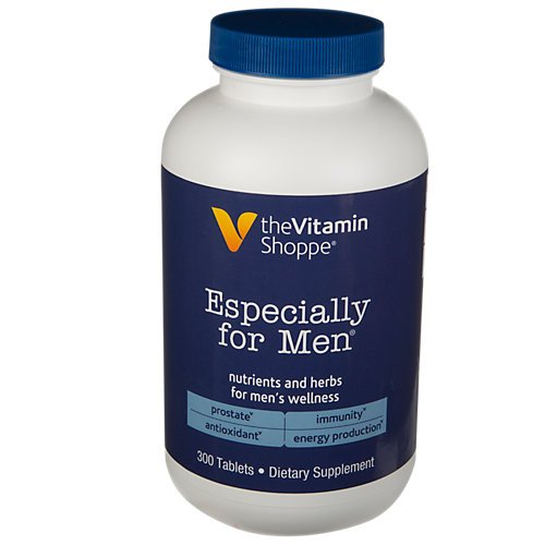 The Vitamin Shoppe Especially for Men Multivitamin, Nutrient's Herbs for Men's Wellness, Antioxidant That Supports Energy Production, Immunity Prostate Health (300 Tablets)