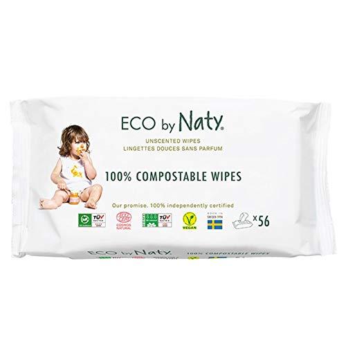 Eco by Naty, Lingettes bébé jetables, 12 x 56 pcs