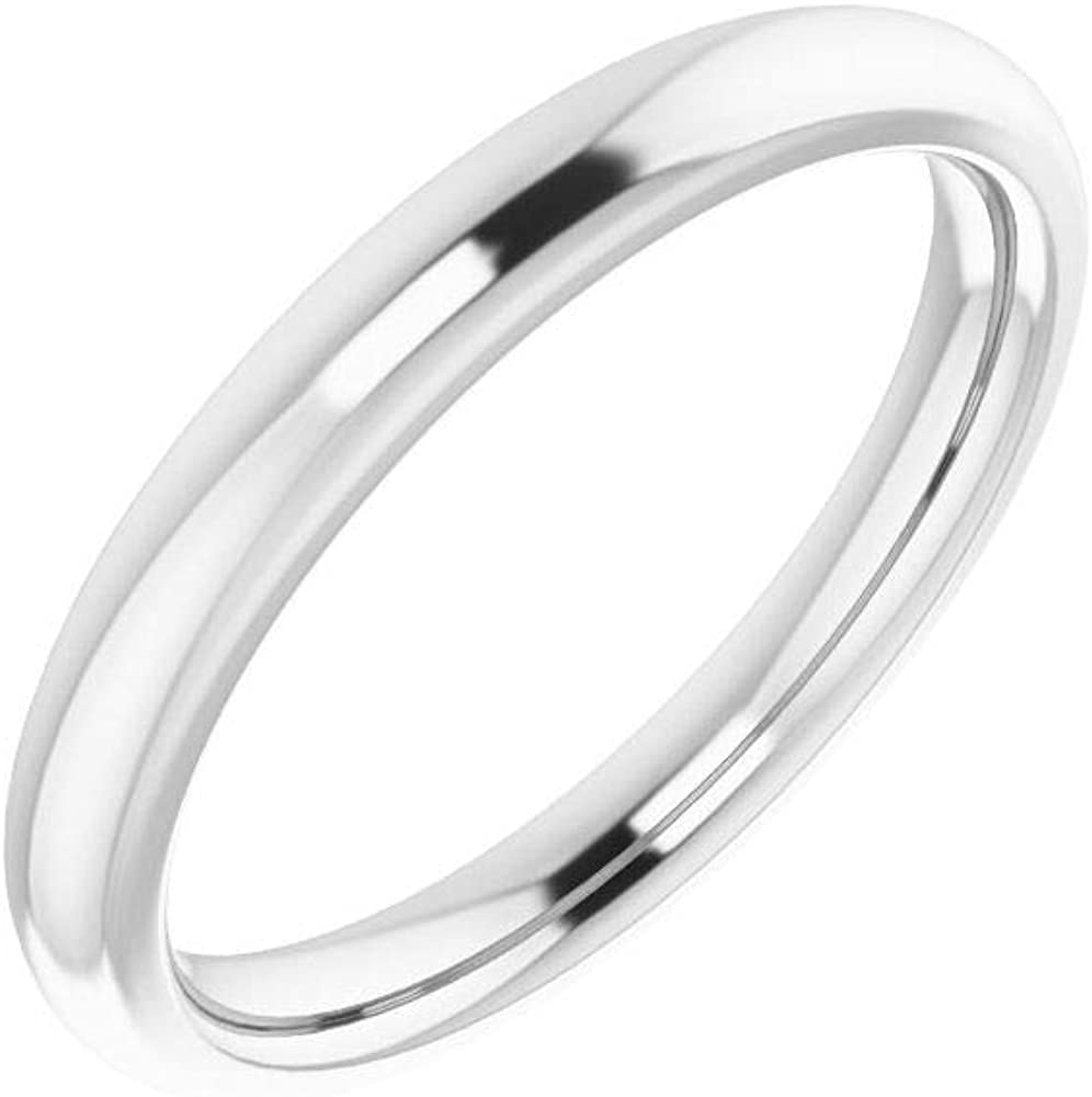 Solid 18K Sale Fort Worth Mall SALE% OFF White Gold Curved Notched Wedding 7mm Cus for Band 7 x