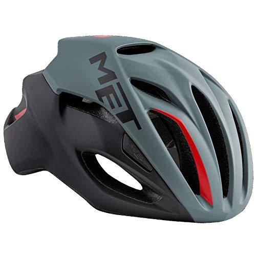 Met Casque RIVALE Gris Noir L (59-62) Cyclisme Mixte Adulte, Multicolore