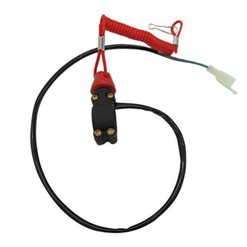 Interruptor de Emergencia Motocicleta ATV Botón de Parada Motor Externo
