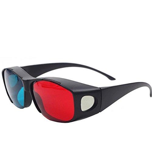 Newin Star 3D Vision Myopia Brille für 3D TV Kino, DVD oder Lesen, Rot/Blau / Cyan