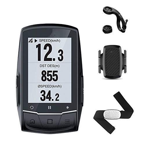 Wxxdlooa Entfernungsmesser-Fahrrad GPS-Fahrrad-Computer-GPS-Navigations Speedometer Connect Mit Cadence/h Monitor/Stromzähler (Nicht enthalten)