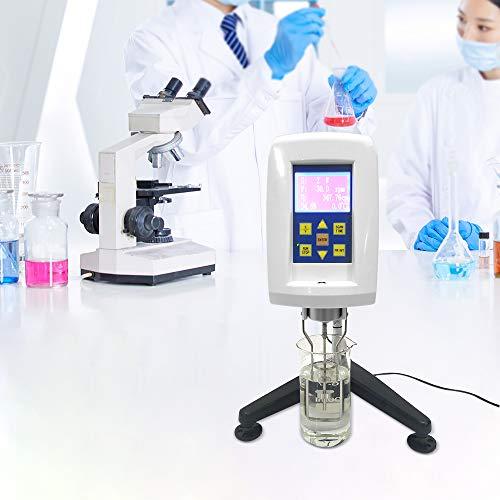 KKTECT Digitales Viskosimeter LCD-Viskositäts-Fluidimeter-Tester-Messgerät für Digitalanzeige 10~2.000.000MPa/0,01 MPa Professionelles digitales Viskosimeter mit Timing-Funktion und Datenübertragung