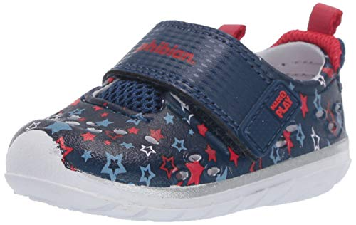 Stride Rite Boy's Made2Play Phibian Sneaker Water Shoe, Navy Star, 5 Toddler
