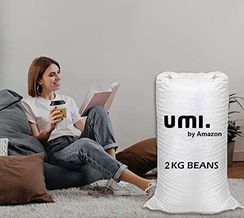 Amazon Brand - Umi. Premium 2 Kg Bean Bag Refill/Filler - White Lemon (2 kg Beans - 1400 Grams net Weight as per Indian Standards)
