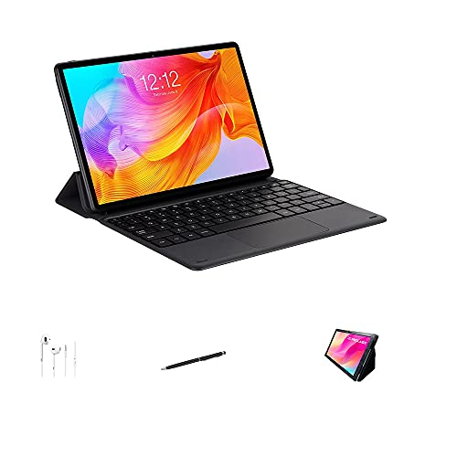 """Newest Tablet M40SE 10.1"""" Android 10 Tablet PC 4GB RAM 128GB ROM 5MP Camera Dual 4G Phone Call Bluetooth5.0 WiFi Type-C (Tablet with Keyboard, Case, Touch Pen & Earphone)"""