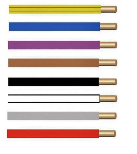 Einzelader starr H07V-U 1,5 mm² 100 Meter Ring mit Farbauswahl (grüngelb)