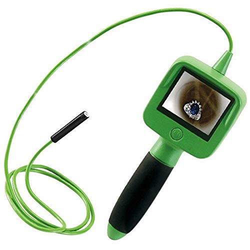 MBEN Endoscopio de Tubo, Pantalla HD de 2.4 Pulgadas, cámara de inspección de 4 Pulgadas, Luces LED y 3 Puntas Intercambiables, Tubo de endoscopio de Mano Impermeable