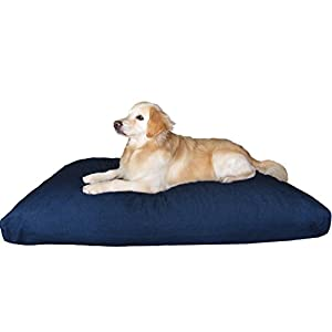Dogbed4less Jumbo Orthopedic Extreme Comfort Memory Foam Dog Bed for Large Dog, Waterproof Lining and Machine Washable Denim Cover, 55X47 Pillow, Blue