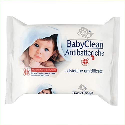 Palucart Salviette igienizzanti senza risciacquo bambini salvietta umidificata antibatteriche per neonato 6 cf x 20 pezzi - 120 pz