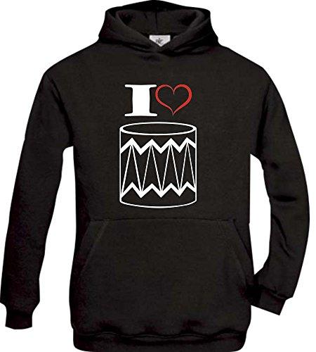Shirtstown - Sweat-shirt à capuche - Col Rond - Manches Longues - Garçon - noir - 14 ans