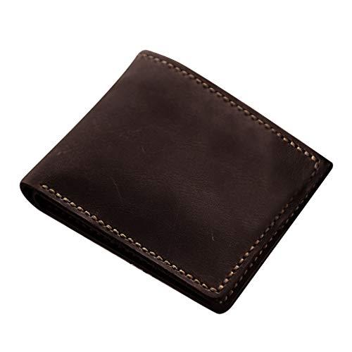 sharprepublic Lederverarbeitung DIY Geldbörse Portemonnaie Muster und Material Kit mit vorgestanztem Leder -Fertiges Produkt Größe: 21x9 cm - Kaffee