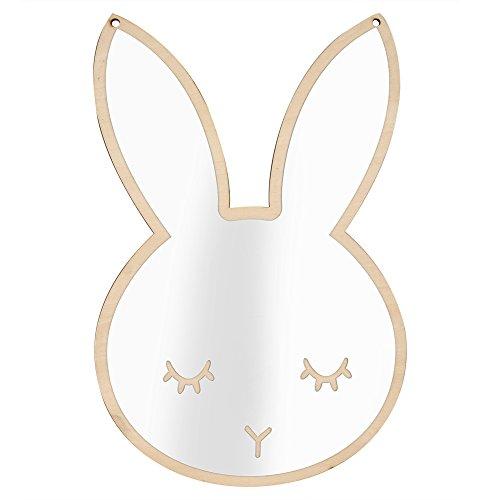 Espejo habitación niños, Espejo acrílico nórdico Decorativo Etiqueta de la Pared calcomanía niños niños Arte decoración (Rabbit)