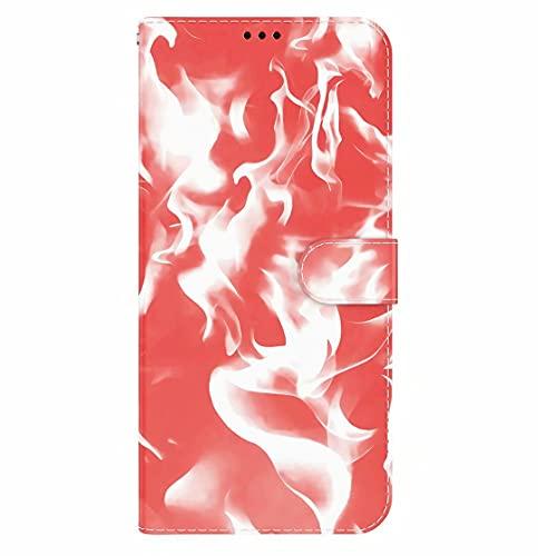 Funda para Samsung Galaxy A10/M10 Cartera de cuero Premium Flip Cover con ranuras para tarjetas Soporte Kickstand resistente a prueba de golpes Funda de teléfono para Samsung A10/M10 Rojo