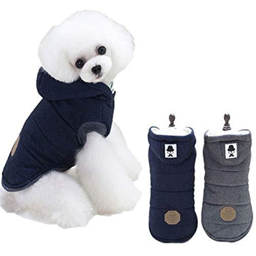 Pies ubranie dla zwierząt domowych na jesień i zimę eksplozje wąsy dwojgowe nogi płaszcz bawełniany (kolor : szary, rozmiar: XL)