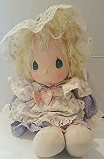 Precious Moments Blonde Love One Another Lilac Dress Doll