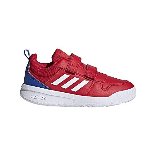 adidas TENSAUR C, Zapatillas de Running, Escarl/FTWBLA/AZUREA, 38 2/3 EU