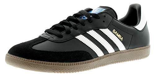 adidas Unisex-Erwachsene Samba OG Leder Sneaker, Schwarz (Black/Running White Footwear), 40 2/3 EU