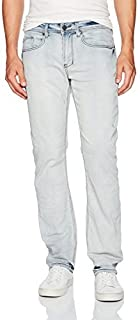 Buffalo David Bitton Men's Six-x Straight Fit Crinkled and Bleached Fashion Denim Pant