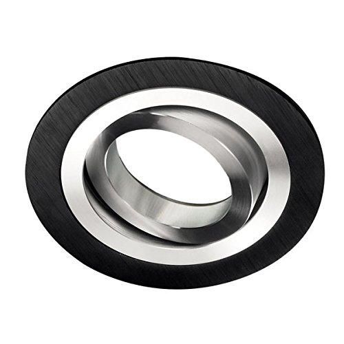 Wonderlamp W-E000002 Foco Empotrable, Negro, Diámetro De 9,3 X 2,5 cm