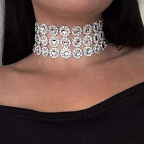 Yienate Boho Necklace Fashion Crystal Choker Full Rhinestone Jewelry for Women and Girls