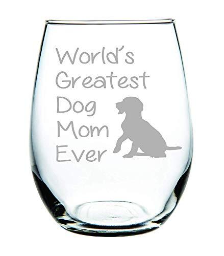Geboren voor-Anime (15 Ounce - Nooit Fade Etsen Gedessineerde Wijn Glaswerk Goe-Handheld Grappig, s Werelds Grootste Hond Moeder Ooit steelloos wijnglas