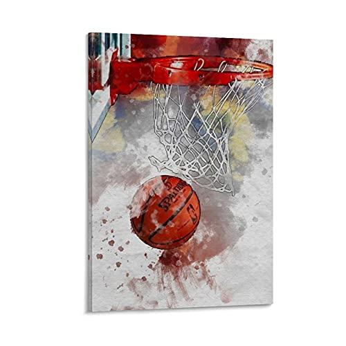 LOPOA Póster artístico de baloncesto con impresión artística para pared con imagen moderna para habitación familiar, 20 x 30 pulgadas (50 x 75 cm)
