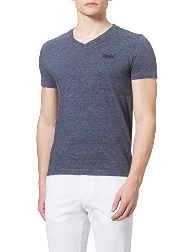 Superdry M1010861A Camiseta, Azul Marino, XL para Hombre