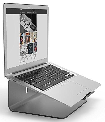 elago L2 STAND 各種 Macbook/ノートパソコン 対応 99% ピュアアルミ スタンド ダークグレー