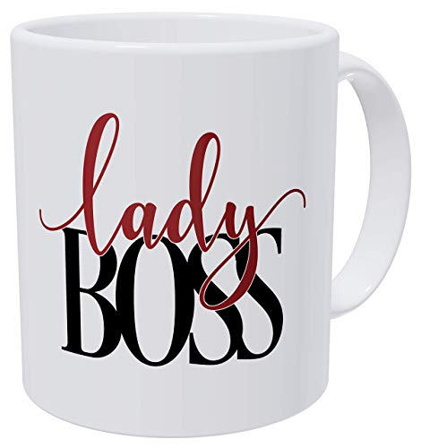 Birthday For Women and Boss Lady Red and Black - Tazas de café para mujer (300 g), color rojo y negro
