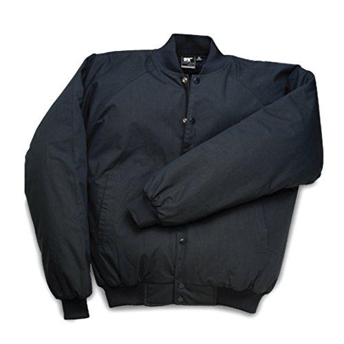 White Bear Clothing Co. Poplin Baseball Jacket, Large Black