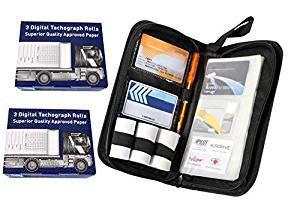 Digital tachograph organiser tacho holder wallet & TACHO 6 spare rolls HGV