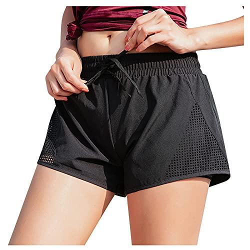 Pantalones Cortos Deportivos para Correr Pantalones De Yoga De Cintura Alta De Hueca Leggings Mujer Desecado...