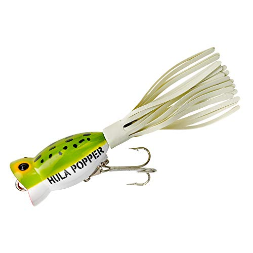 Arbogast Hula Popper Topwater Fishing Lure, Frog White Belly, G730 (1 1/4 in, 3/16 oz)