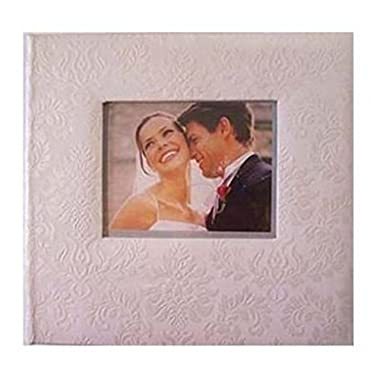 New Seasons Ivory Damask 200 Image Horizontal Wedding Picture Album with Front Photo Window